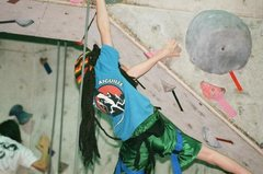 Rock Climbing Photo: Yet another mid .11 in dreads