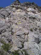 Rock Climbing Photo: 1)The Right Stuff 5.10a 2)The Right Stuff Variatio...