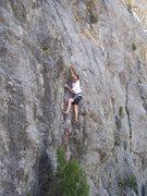 Rock Climbing Photo: DK enjoying the small pockets as he moves left twa...