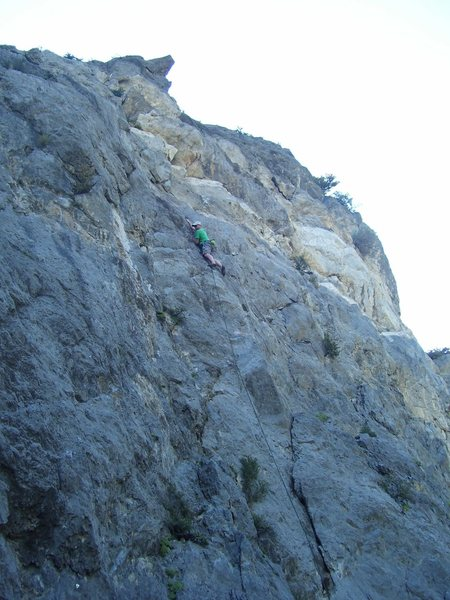Rock Climbing Photo: This is tilted a bit. The route is steeper than th...