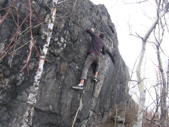 Rock Climbing Photo: upper wall