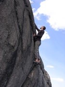 Rock Climbing Photo: Chris Deulen contemplating yet another slightly de...