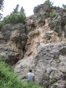 Rock Climbing Photo: Pulling through the crux of Napoleon's Angst.
