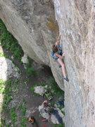 Rock Climbing Photo: Around the 4th bolt.