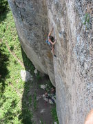 Rock Climbing Photo: I think this rail up and to the right towards the ...