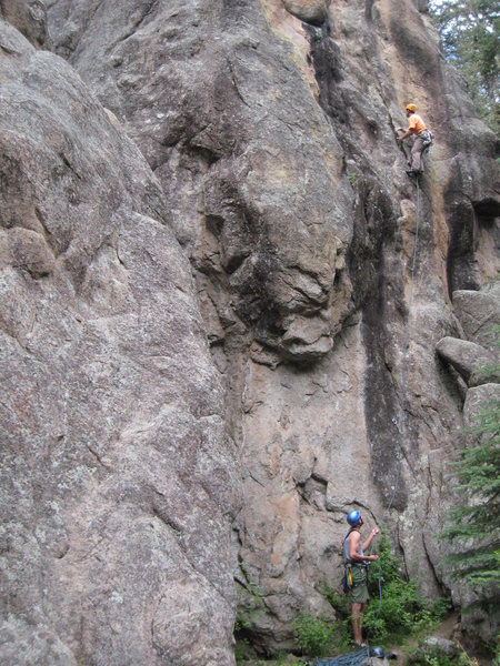 Rock Climbing Photo: Enjoying the fun liebacking section of Tasty Freez...