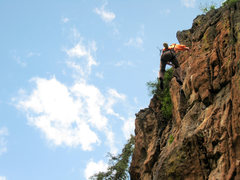 Rock Climbing Photo: Whipper time! Missing the onsight of Road Rage on ...