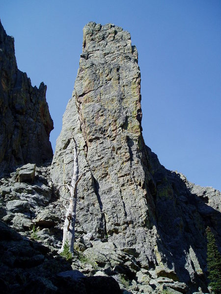 Rock Climbing Photo: North face of Sharksfin. The North Face route clim...