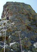 "Rock Climbing Photo: Sharkstone P1. The ""polished ramp"" is ju..."