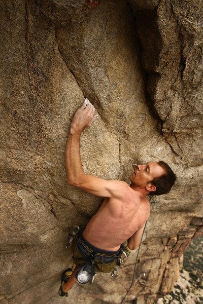Rock Climbing Photo: Addiction area of Pine Creek: Tai Devore redpointi...