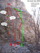 Rock Climbing Photo: updated version of this climb beta.