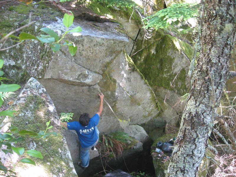 Quieres Moss? Working through the crux.