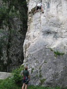 Rock Climbing Photo: Byron Murray on first crux of Zajeda