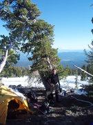 Rock Climbing Photo: Todd at camp