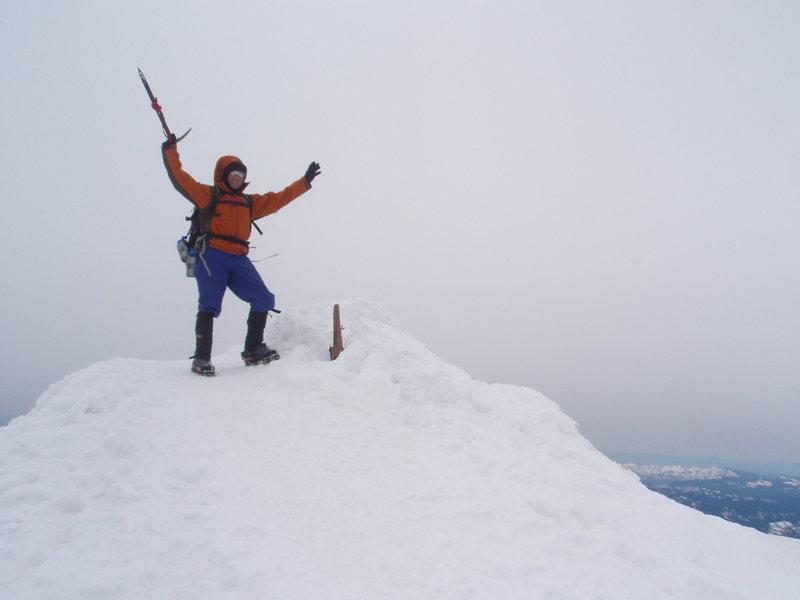 Rock Climbing Photo: Todd on the Summit