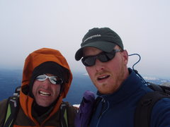 Rock Climbing Photo: Todd and me on the summit
