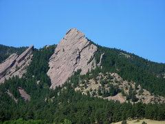 Rock Climbing Photo: The First dominates the view, but the Flatironette...