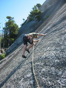 Rock Climbing Photo: Simon on Anxiety State which traverses left across...