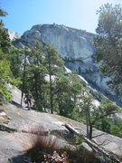 Rock Climbing Photo: Simon starting the walk down the slab descent with...