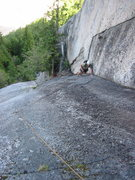 Rock Climbing Photo: Simon following the fourth pitch (10a) of Unfinish...