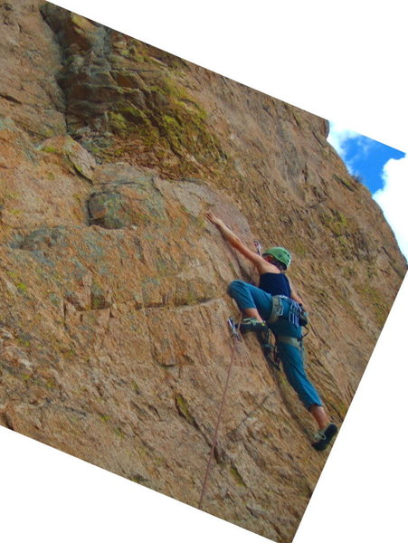 Rock Climbing Photo: This was just after clipping the 3rd bolt. It's pr...