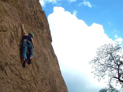 Rock Climbing Photo: Traverse on Jizzneyland.