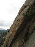 Rock Climbing Photo: Kassia picking her line . . . no shortage of optio...