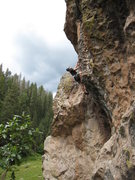 Rock Climbing Photo: Mike Wheat in excellent form on Pumpin Huecos on a...