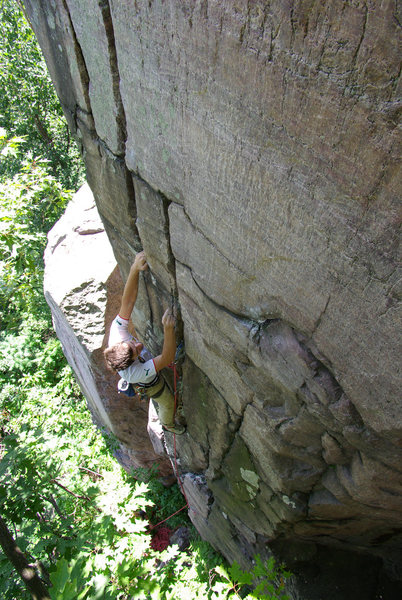 Rock Climbing Photo: Isaac Therneau leading Whipping Boy. July 13 '08.