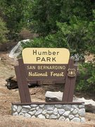 Rock Climbing Photo: The sign at the entrance to Humber Park(ing lot), ...