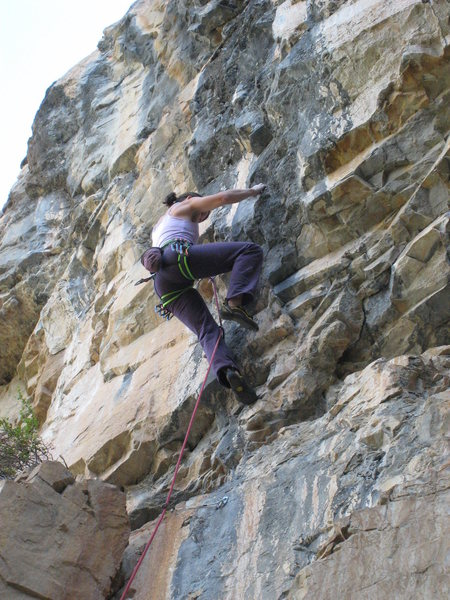 Rock Climbing Photo: The upper crux