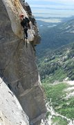 Rock Climbing Photo: the double pendulum/aid pitch near the top of the ...