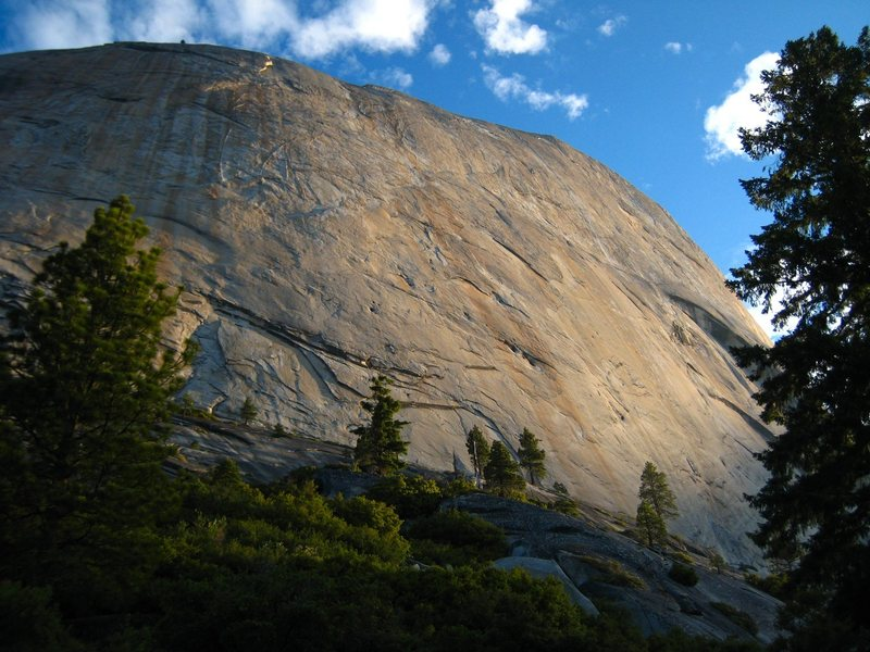 Rock Climbing Photo: Early morning light on the South Face of Half Dome