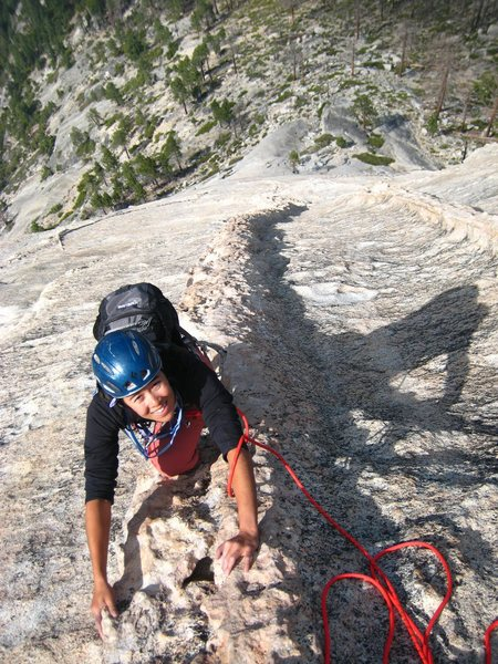 Rock Climbing Photo: Dike hikin' on Snake Dike