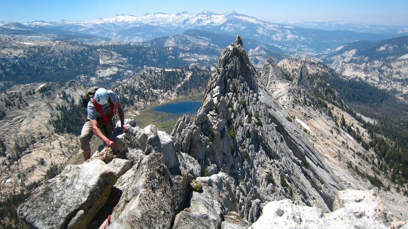 Rock Climbing Photo: Nearing the South summit on the Mathes Crest trave...