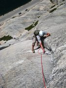 Rock Climbing Photo: Following P2 of West Country