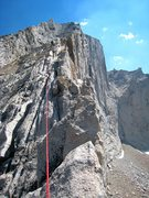 Rock Climbing Photo: On the West Ridge of Mt. Conness