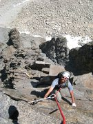 Rock Climbing Photo: Following on Venusian Blind.  This pitch ends with...