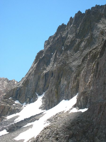 The aretes of Temple Crag seen somewhat in profile