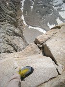 Rock Climbing Photo: Looking down from the start of the Fresh Air Trave...