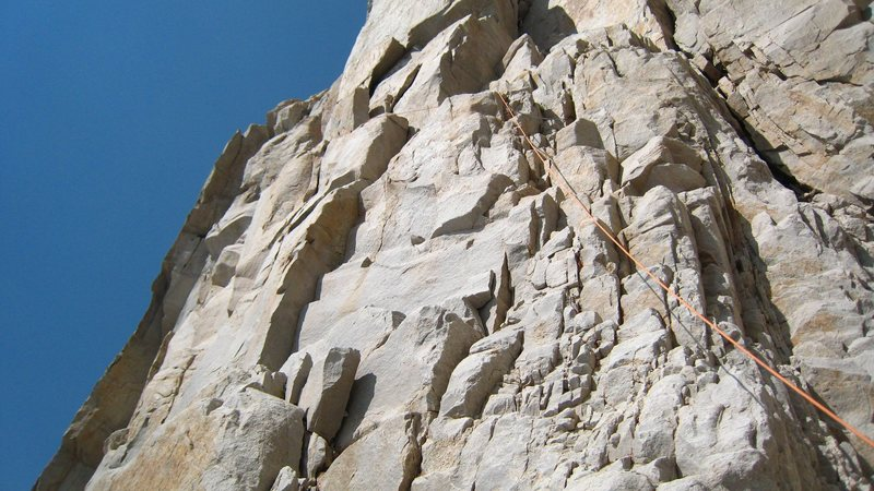 The beginning of the fresh air traverse