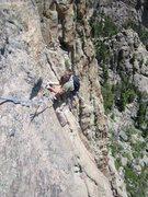 Rock Climbing Photo: Big Kopitzki following the traverse.