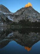 Rock Climbing Photo: Ragged Peak reflected in Young Lake.  If you're so...