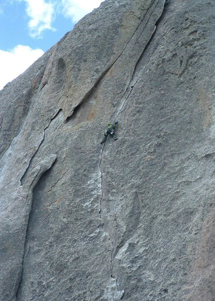 Gary leading Wheat Thin, the beginning of a fun week of climbing at the City