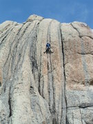 Rock Climbing Photo: Dean Allison enjoying the climb and day