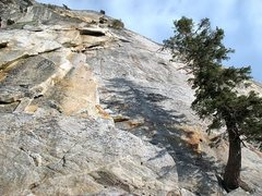 Rock Climbing Photo: Left side of the Flintstone Slab, Tahquitz Rock