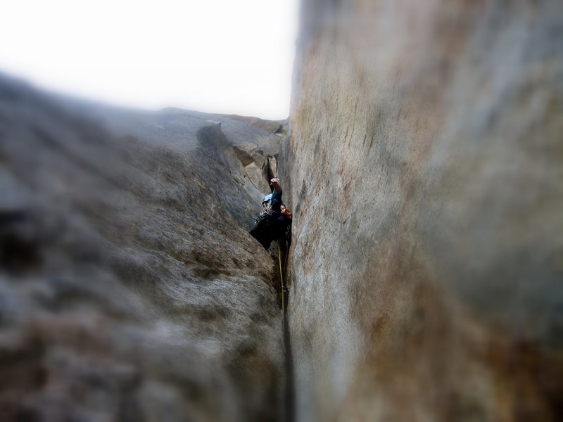 Rock Climbing Photo: One of many killer pitches on the NEB.