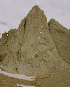 Rock Climbing Photo: pitch 3 maybe combined with 4.  pitch 5 and 6 are ...