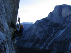 Rock Climbing Photo: Jugging before sunrise on the South Face.