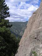 Rock Climbing Photo: climbing at the Monastery, near Estes Park colorad...